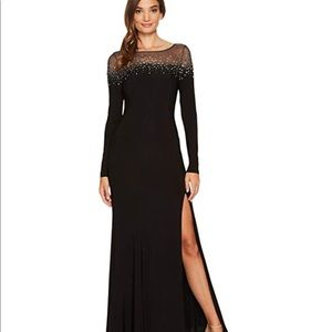 Vince Camuto Embellished Jersey Gown sz 2